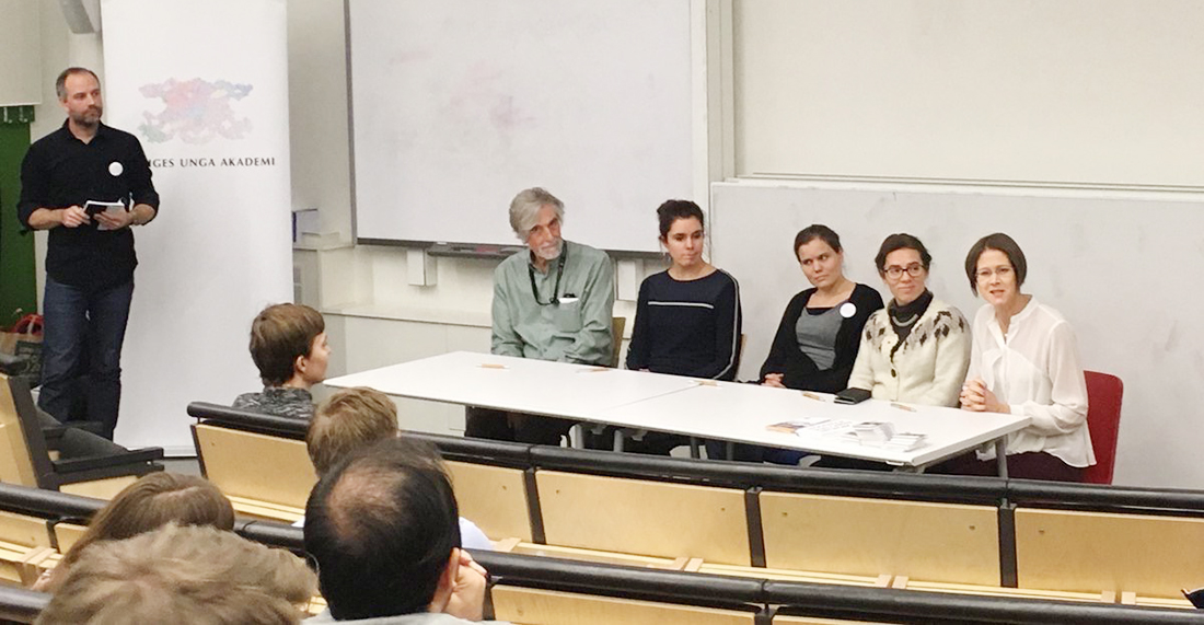 Panel at career seminar KTH Photo: Young Academy of Sweden