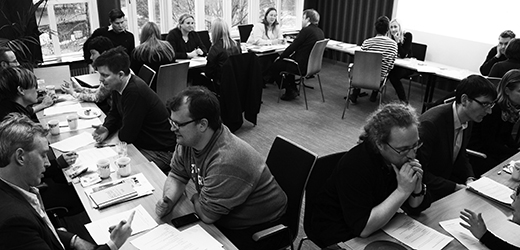 Intense interdisciplinary speed-dating at an academy meeting. Photo: Anna Kjellström/Young Academy of Sweden